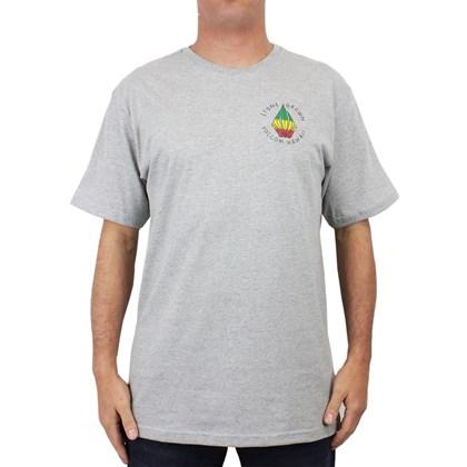 Camiseta Extra Grande Volcom Stone Grown Cinza Mescla
