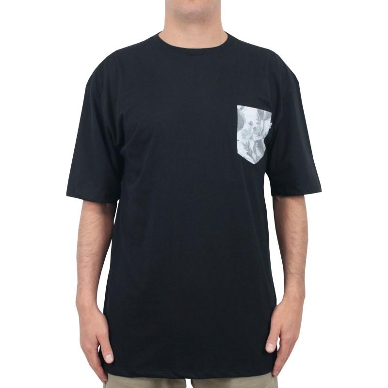 Camiseta Extra Grande Wave Giant Especial Pocket Preta