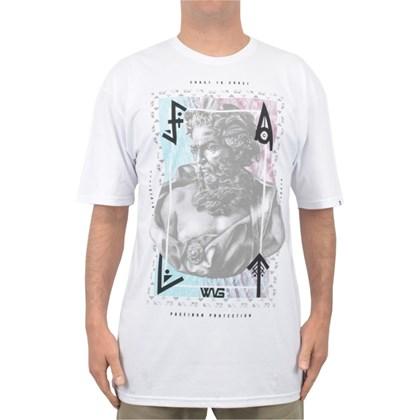 Camiseta Extra Grande Wave Giant Poseidon Branca