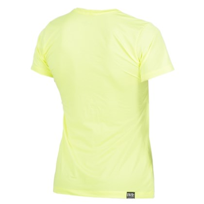 Camiseta Feminina Mormaii com Proteção UV Amarelo Fluor