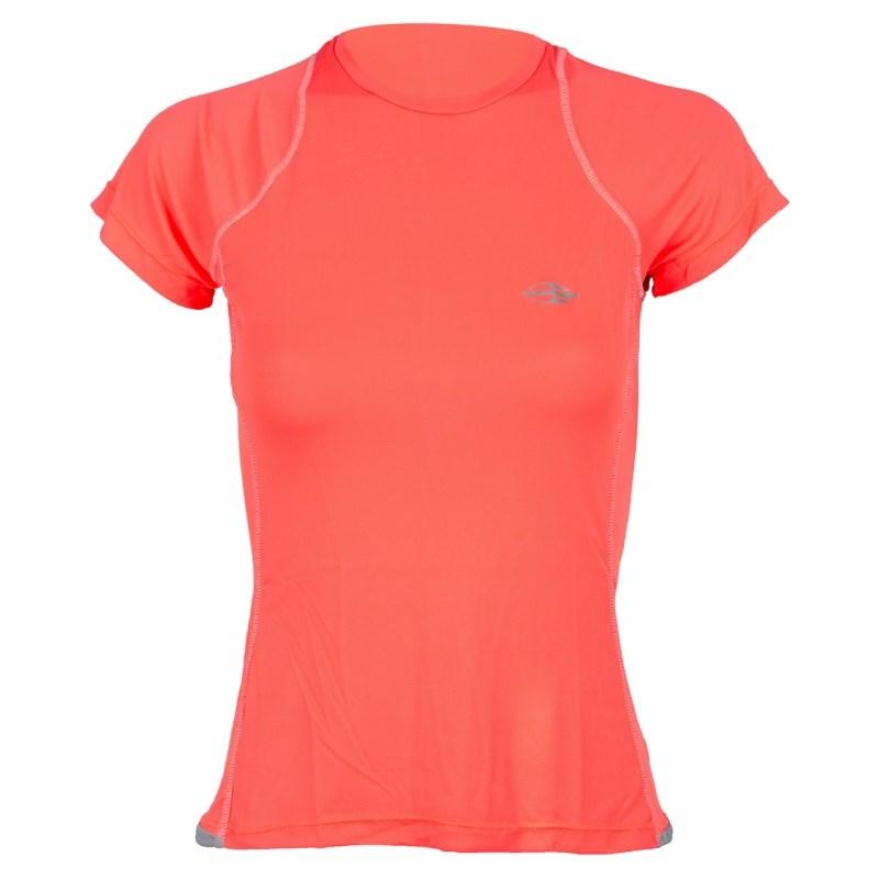 Camiseta Feminina Mormaii com Proteção UV Laranja Fluor