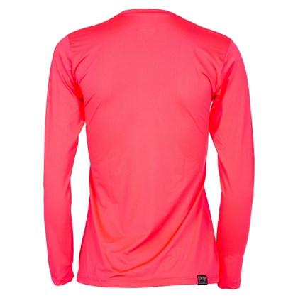 Camiseta Feminina Mormaii com Proteção UV Manga Longa Rosa Fluor