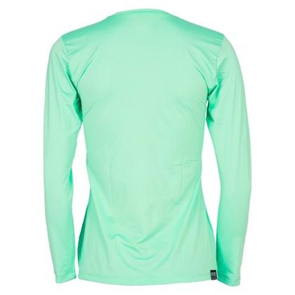 Camiseta Feminina Mormaii com Proteção UV Manga Longa Verde Água