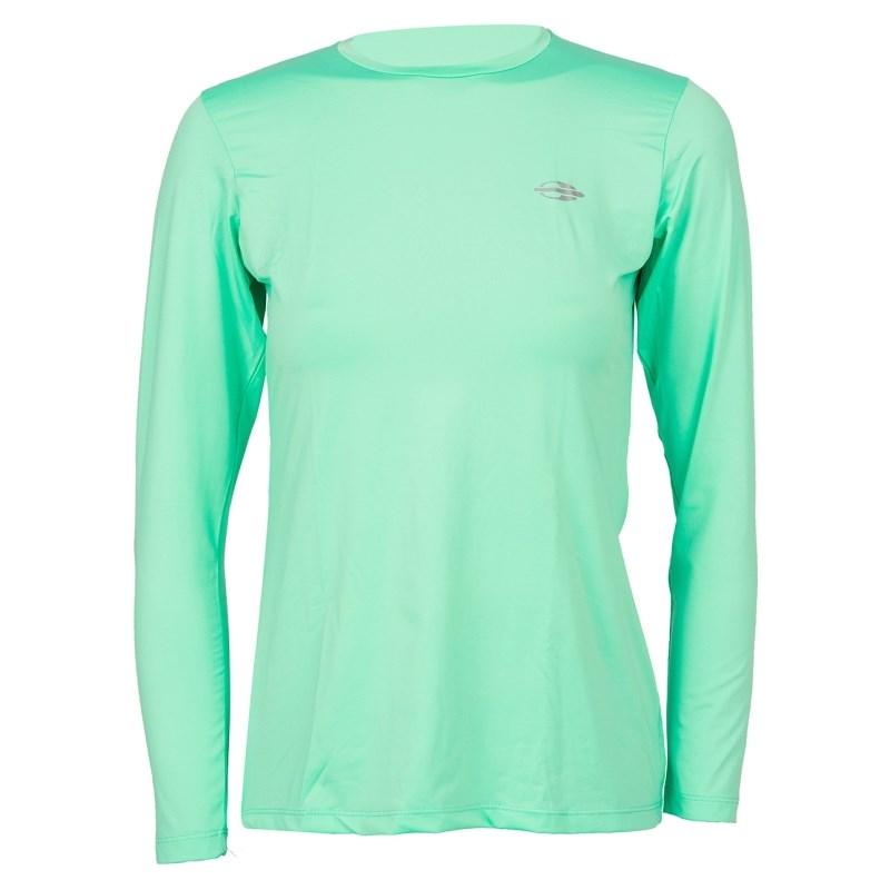 ccd6c76e8a Camiseta Feminina Mormaii com Proteção UV Manga Longa Verde Água ...