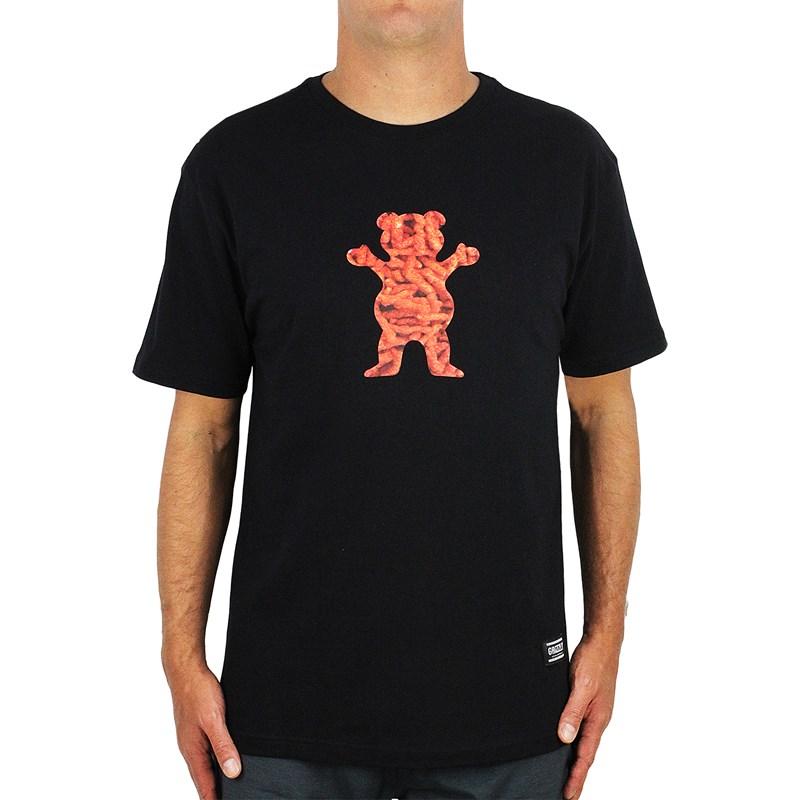 Camiseta Grizzly Flamming Bear Crop Black