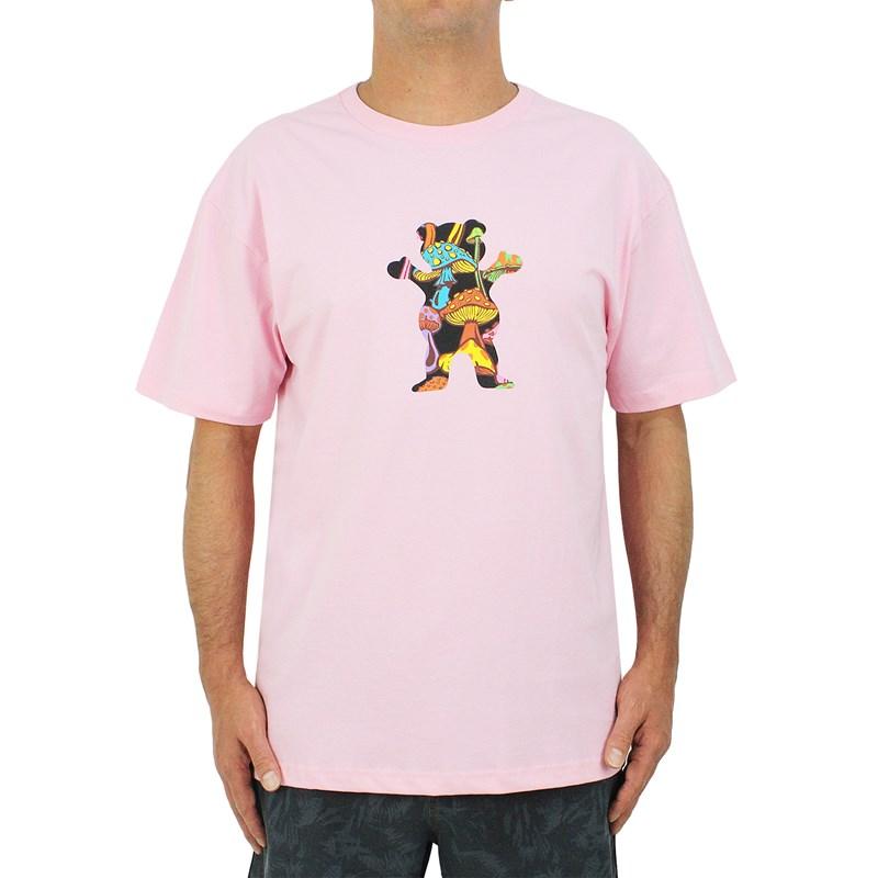 Camiseta Grizzly Fungi Bear Pink