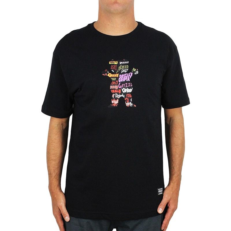 Camiseta Grizzly Grizzfest Bear Preta