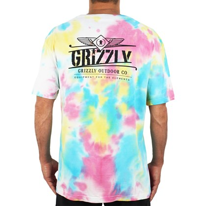 Camiseta Grizzly Outdoor Equip Tie Dye Multi