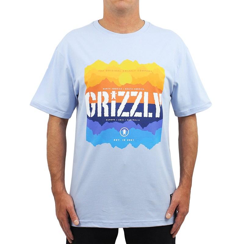 Camiseta Grizzly Reflection Powder Blue