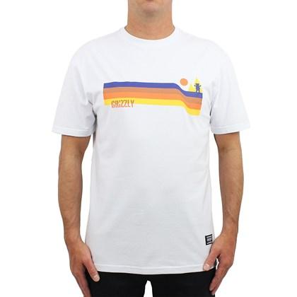 Camiseta Grizzly Retro Stripes White