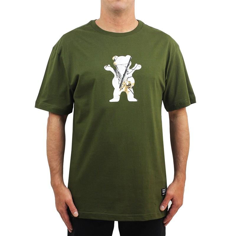 Camiseta Grizzly Winter Camo Og Bear Military Green