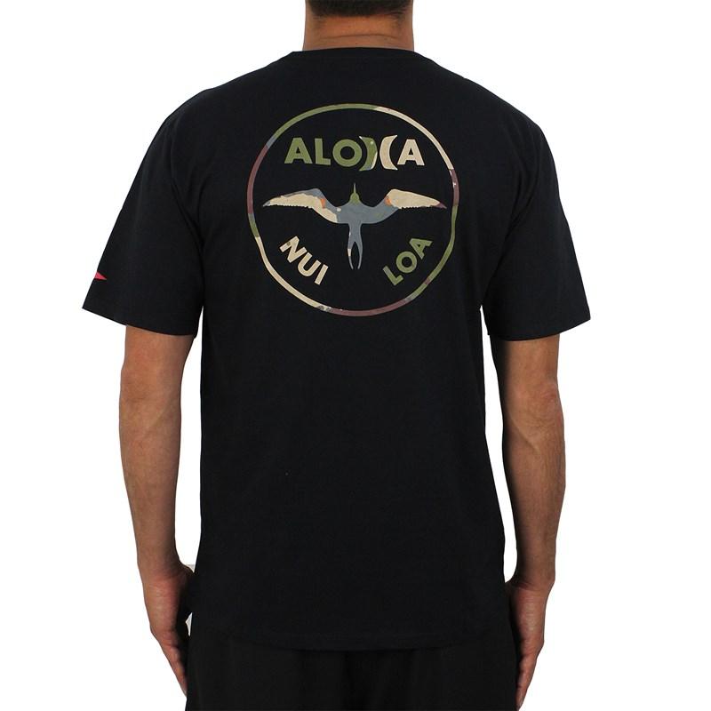 Camiseta Hurley John John Florence Aloha Preta