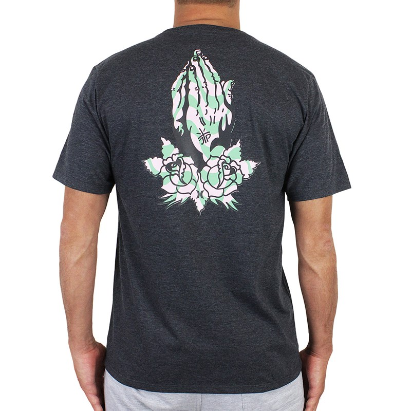 Camiseta Hurley Praying Hands Preto Mescla