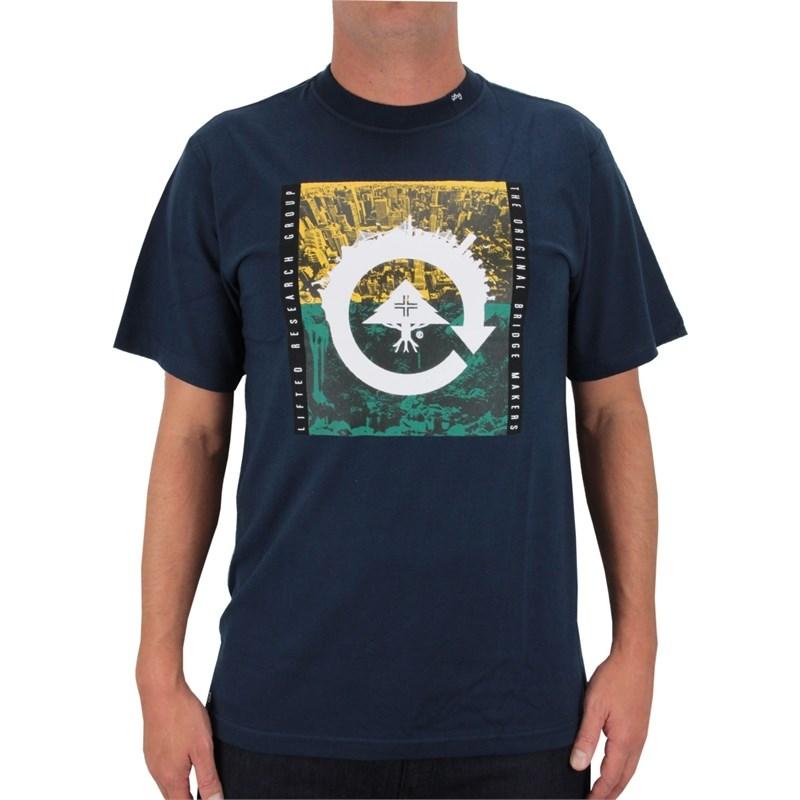 Camiseta LRG Recycled City Azul Marinho