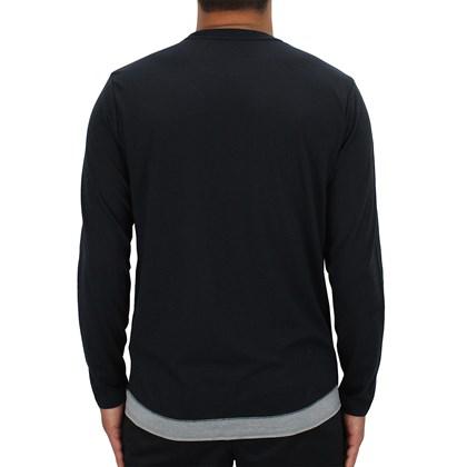 Camiseta Manga Longa RVCA Runner Mesh Black
