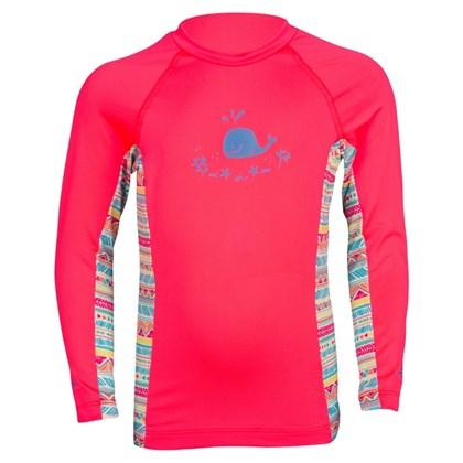 Camiseta Mormaii Baby Com Proteção UV Rosa Etnico