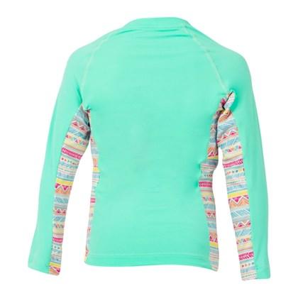 Camiseta Mormaii Baby Com Proteção UV Verde Etnico