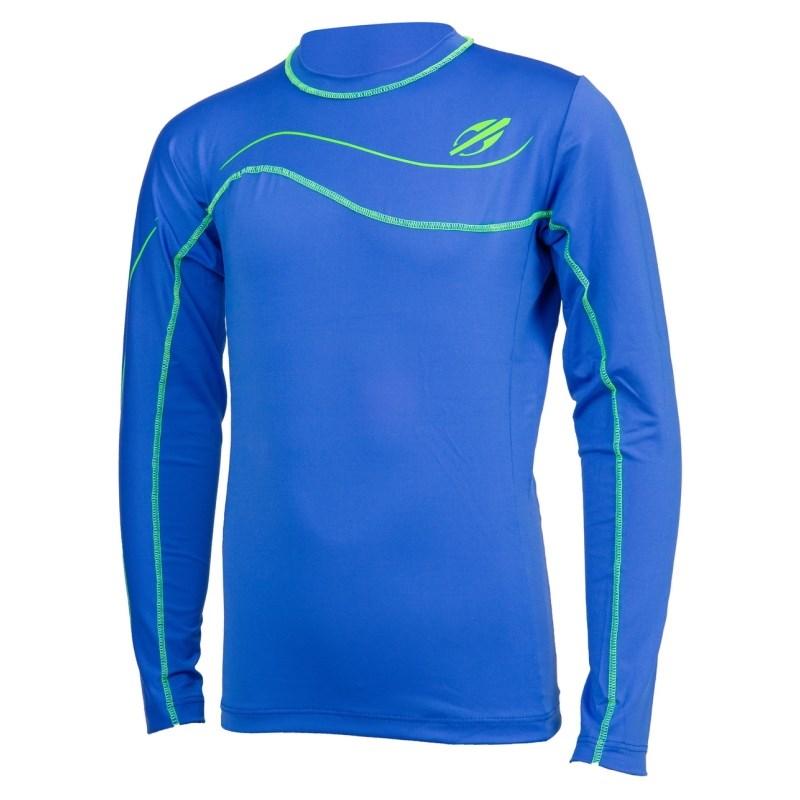 Camiseta Mormaii Infantil com Proteção UV Manga Longa Azul - Surf Alive 6d2c0ac19a0
