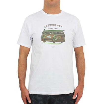 Camiseta Natural Art Surf House White