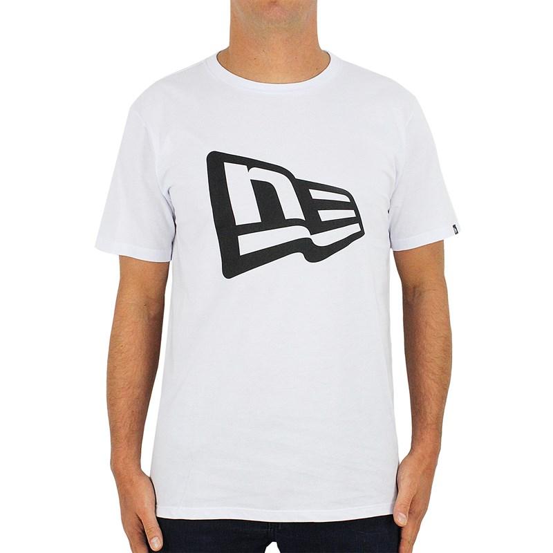 Camiseta New Era Essentials Flag Branca