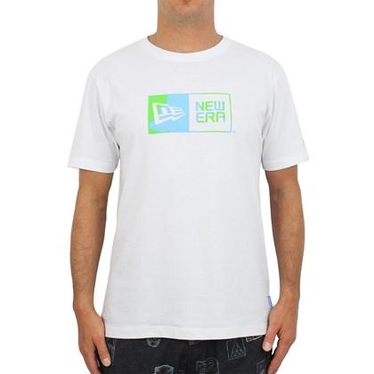 Camiseta New Era Green Earth Box White