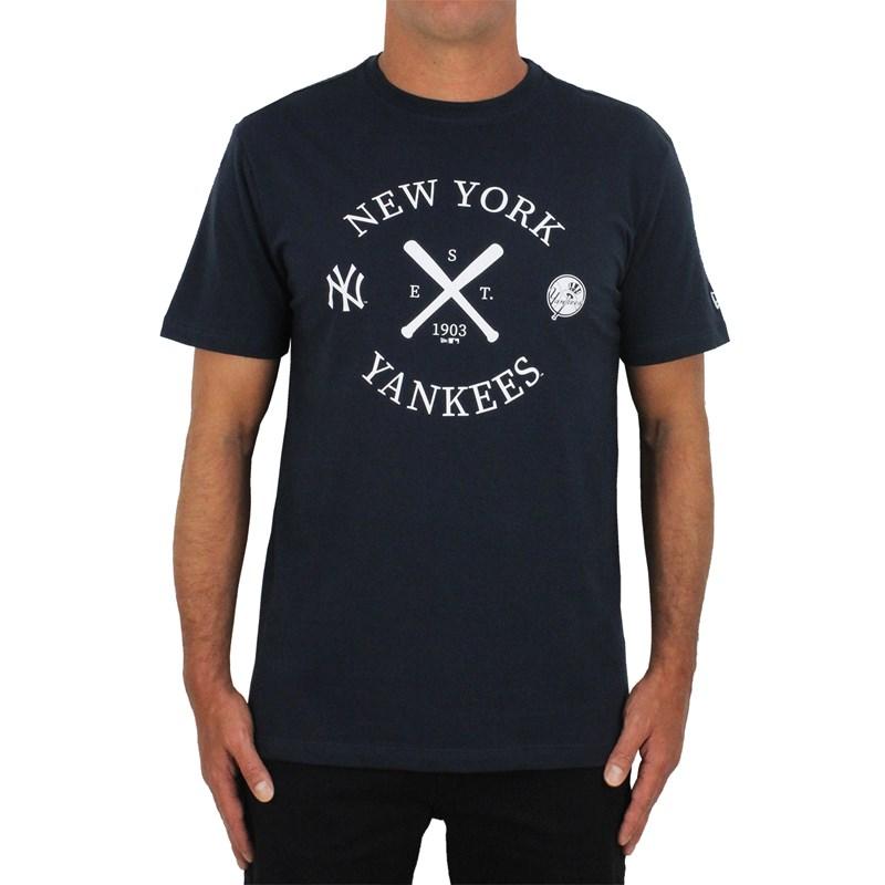 Camiseta New Era MLB New York Yankees Cinza Mescla