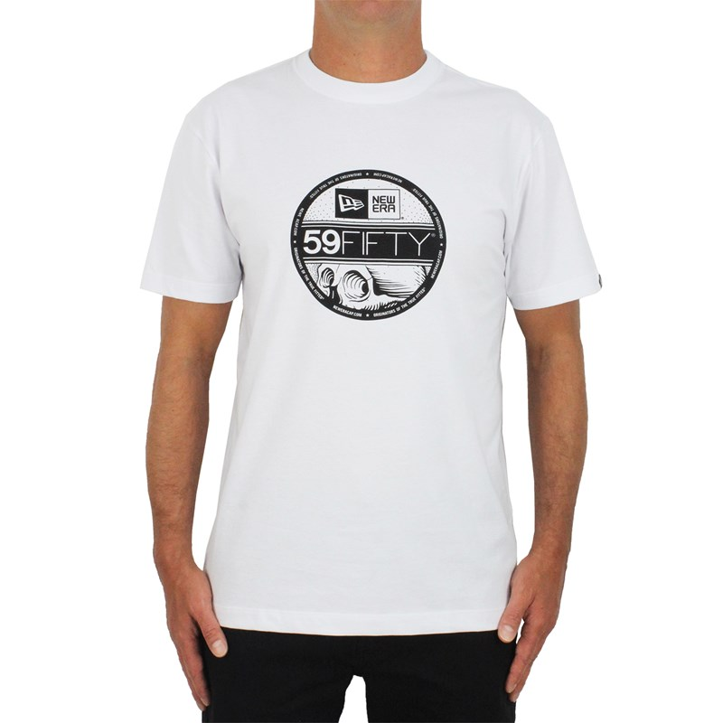 Camiseta New Era Trick Me 59 Fifty White