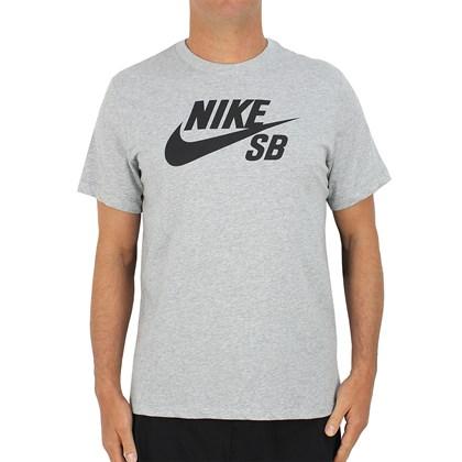 Camiseta Nike SB Dri Fit Logo Cinza