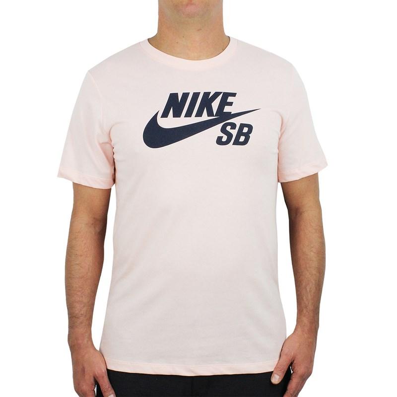Camiseta Nike SB Dri Fit Logo Salmão