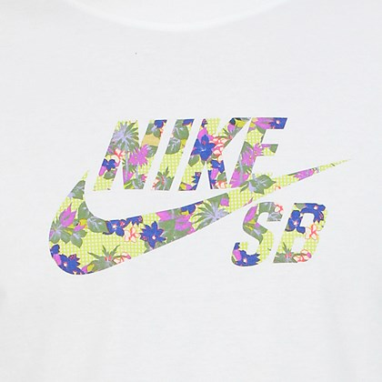Camiseta Nike SB Paradise Logo Branca