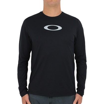 Camiseta Oakley Blade Surf Manga Longa Preta