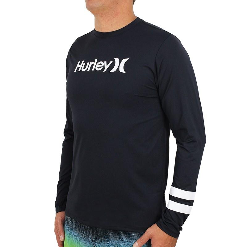 Camiseta para Surf Hurley Block Party Black