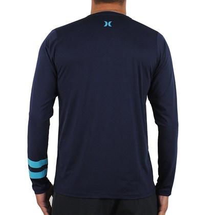 Camiseta para Surf Hurley Block Party Marinho