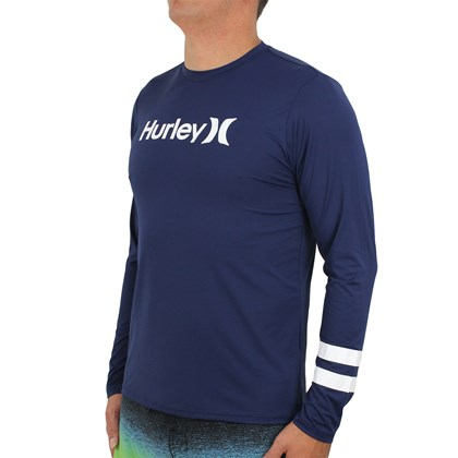 Camiseta para Surf Hurley Block Party Navy