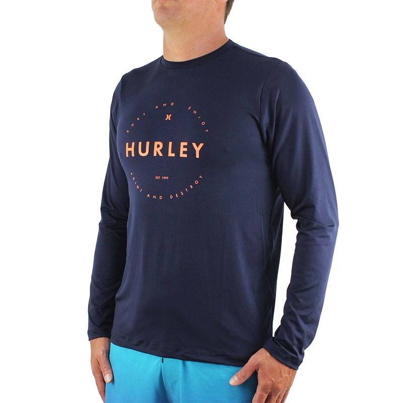 Camiseta para Surf Hurley Circle Marinho