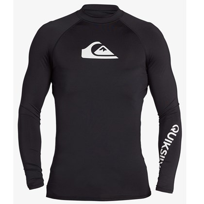 Camiseta para Surf Quiksilver All Time Manga Longa Black