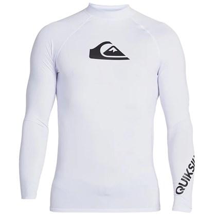 Camiseta para Surf Quiksilver All Time Manga Longa White