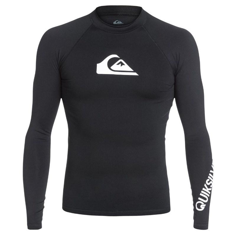 CAMISETA PARA SURF QUIKSILVER ALL TIMES PRETA IMPORTADA
