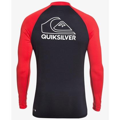 Camiseta para Surf Quiksilver On Tour Manga Longa High Risk Red
