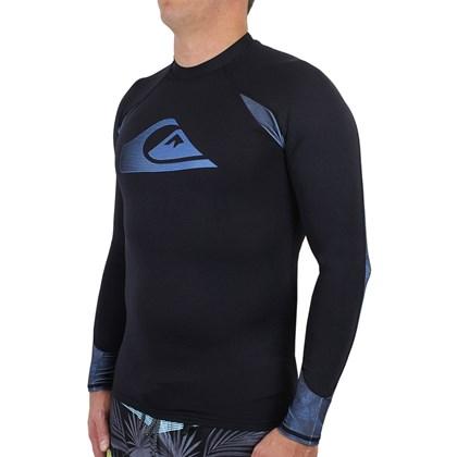 Camiseta para Surf Quiksilver Paradise Manga Longa Black