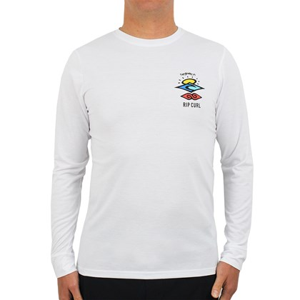 Camiseta para Surf Rip Curl Search Logo White