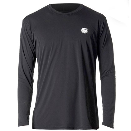 Camiseta para Surf Rip Curl The Search Manga Longa Black