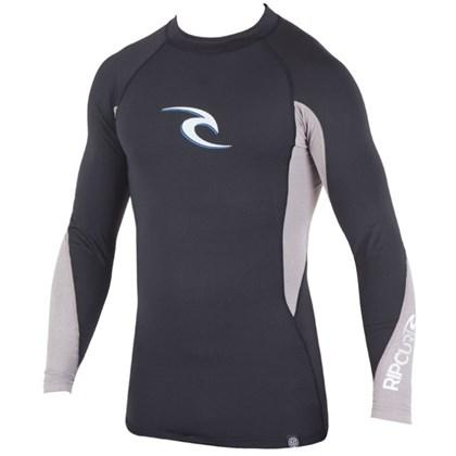Camiseta Para Surf Rip Curl Wave Manga Longa Black