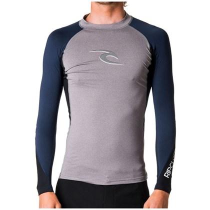 Camiseta Para Surf Rip Curl Wave Manga Longa Grey