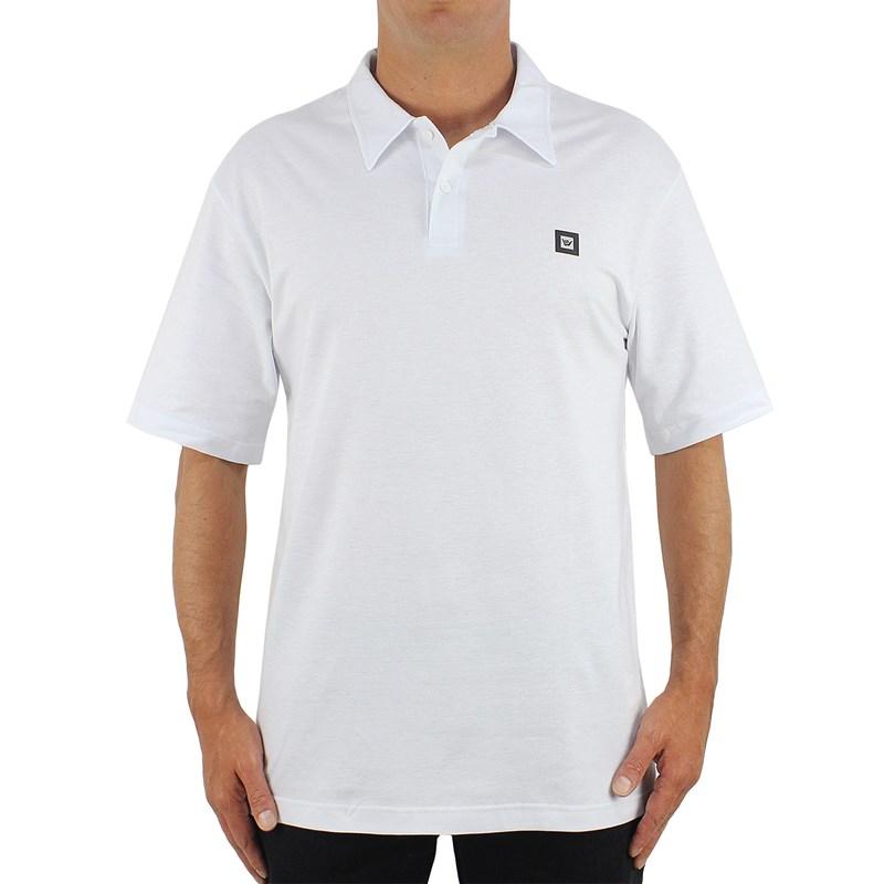 Camiseta Polo Extra Grande Hang Loose Label White