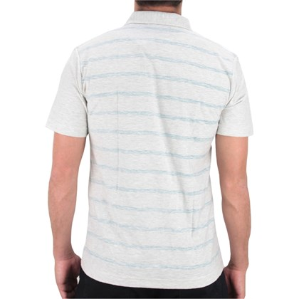 CAMISETA POLO HURLEY BLOCK PARTY OFF WHITE AZUL