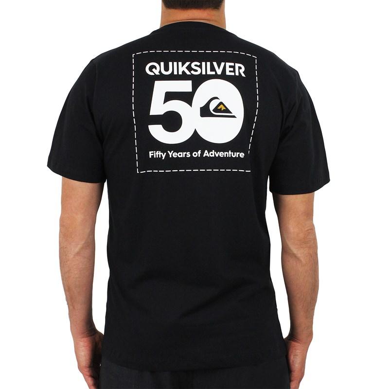 Camiseta Quiksilver Basic The Label Preta