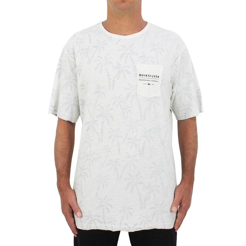 Camiseta Quiksilver Double Palmistry Off White