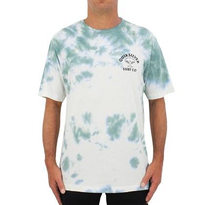 Camiseta Quiksilver Enjoy The Glide Tie Dye Light Green