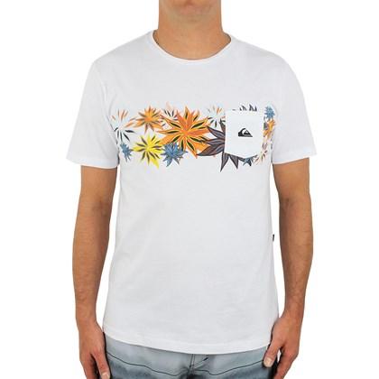 Camiseta Quiksilver Especial Time Line Branca